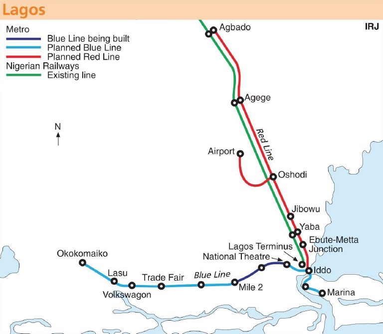 Nigeria Lagos Light Rail Phase I Will Be Ready In June 2013 West Africas First Public Rail Transit System on car light diagram