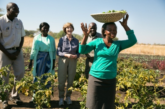 Laura Bush Zambia