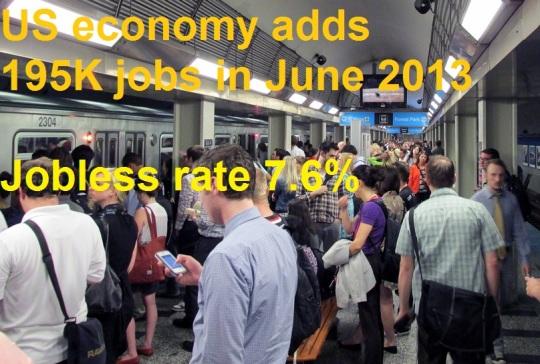 June 2013 Unemployment