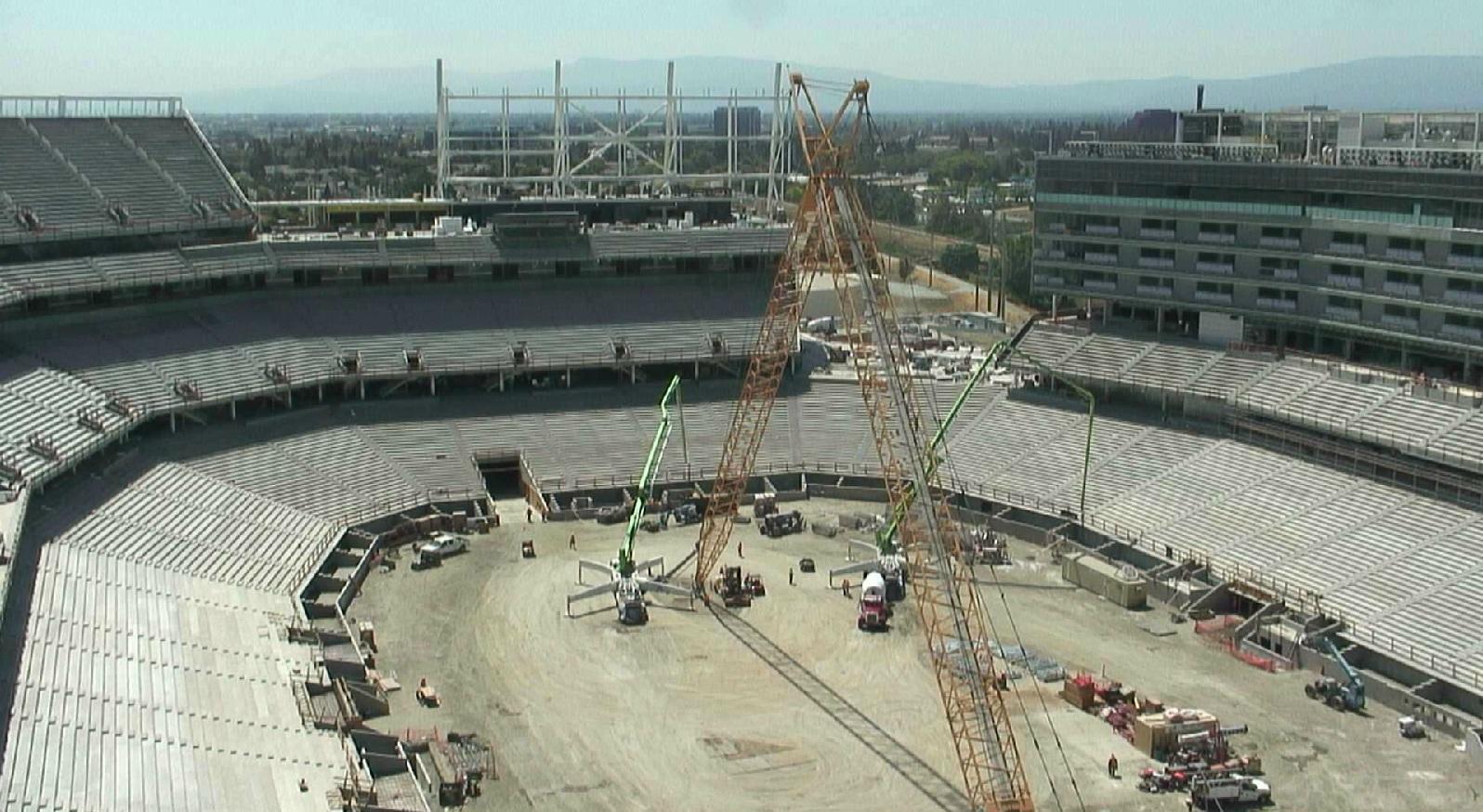 49ers new stadium progress nfl construction on 49ers new stadium