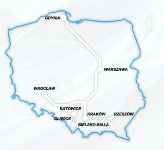 Express InterCity Premium Map