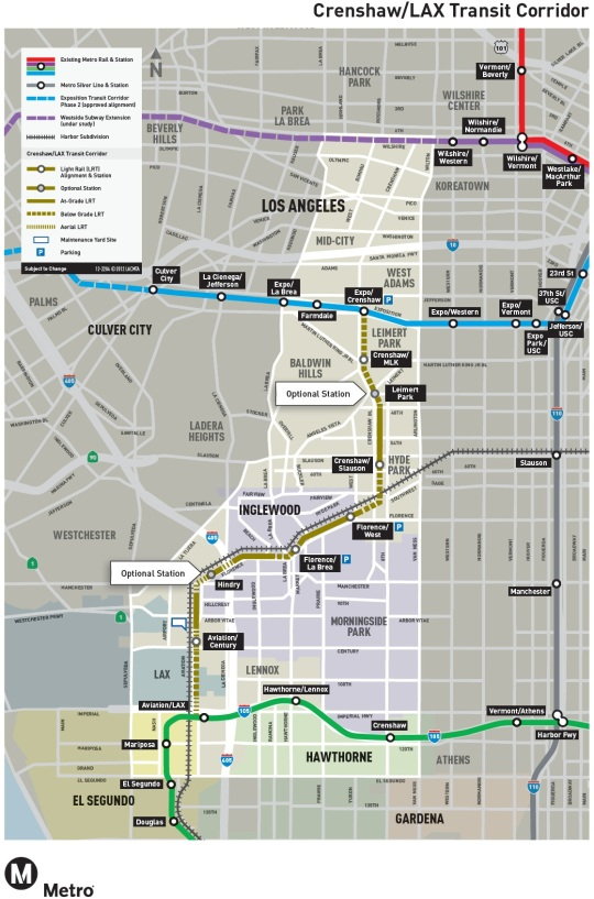 LA Metro Crenshaw LAX