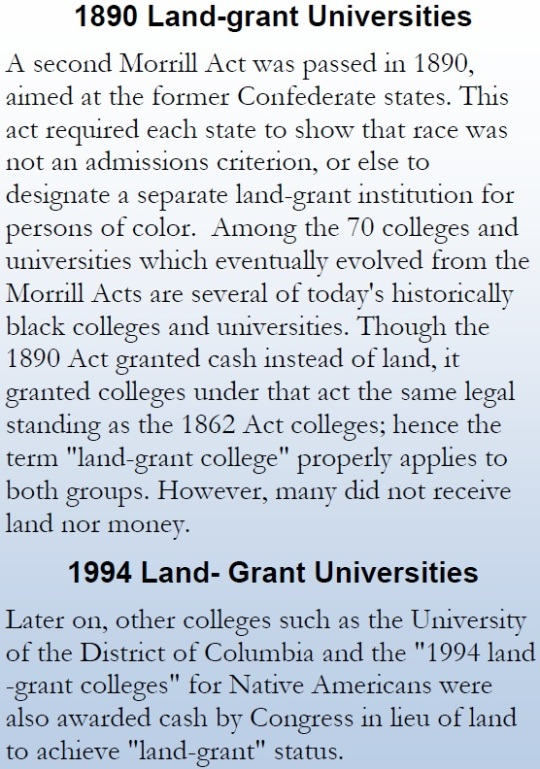 1890 and 1994 Land Grant Colleges
