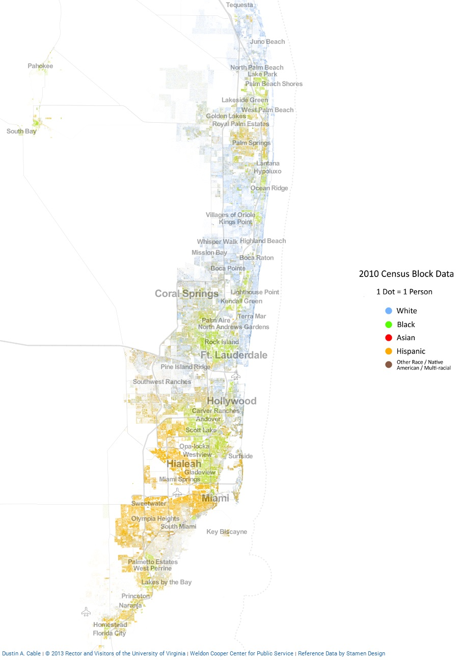 How Racially Diverse Are American Cities Check These Maps Out - Florida map by race