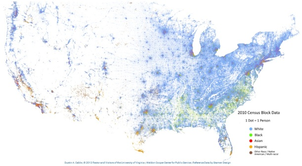 United States Population Demographics Map