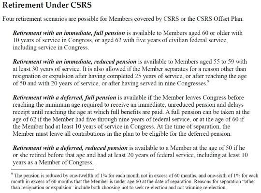 Retirement Under CSRS