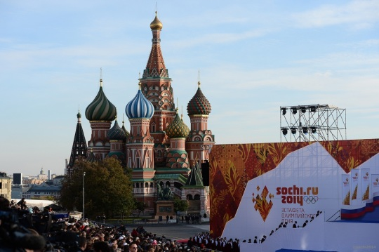 Russia Welcomes Olympic Flame