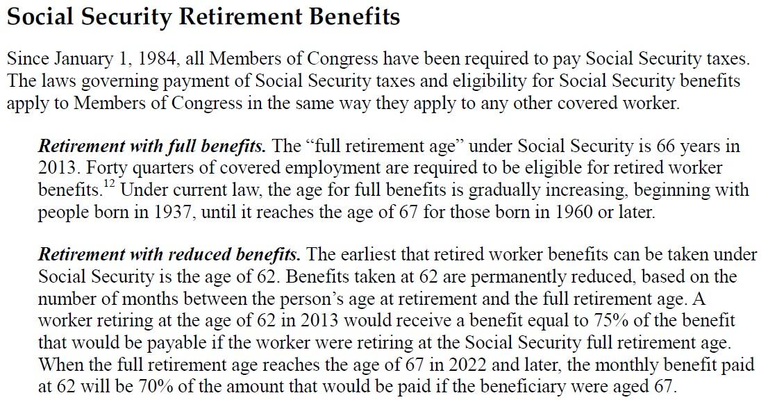 U S Congressional Salaries And Retirement Benefits Dilemma X