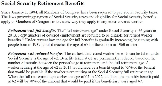 Social Security Retirement Benefits