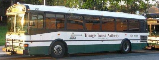 Triangle Transit old bus design