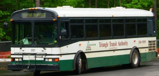 Triangle Transit old bus