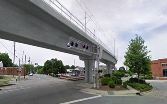 Triangle Transit Light Rail -Raleigh bridge