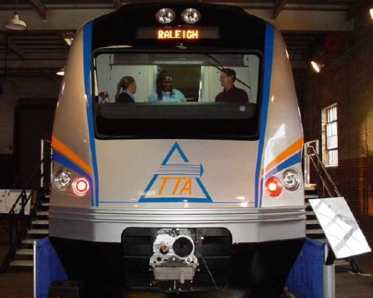 Triangle Transit train design