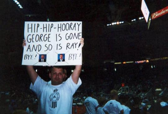 Charlotte Hornets last home game