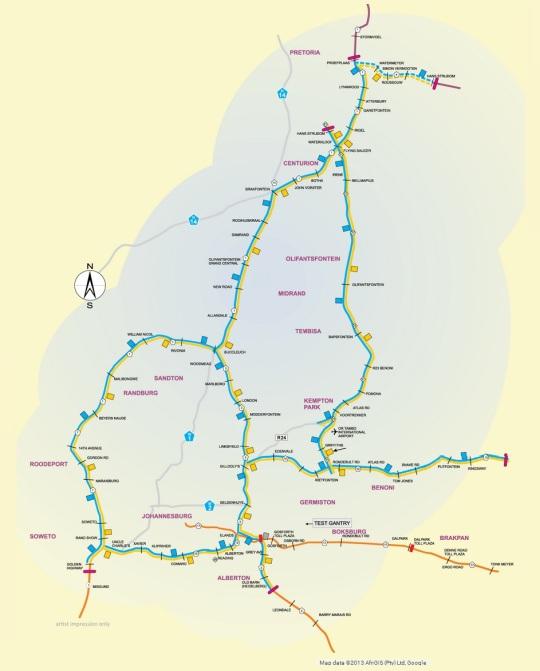 Gauteng e-road