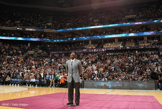 Michael Jordan  majority owner and head of basketball operations for the NBA's Charlotte Bobcats - Hornets