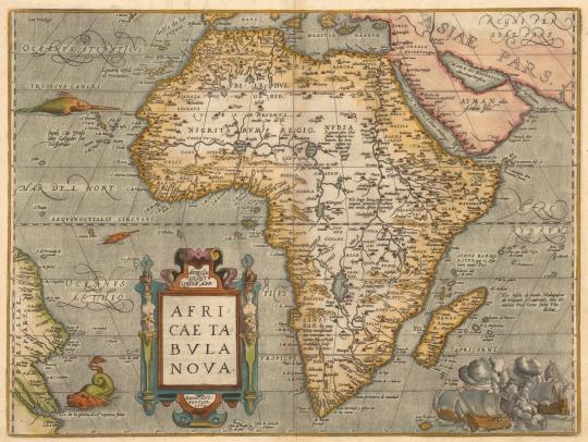 1584 Ortelius Africa Map