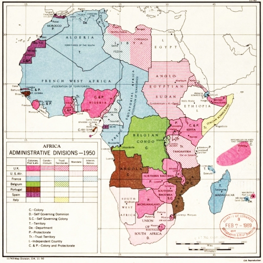 Africa administrative divisions 1950