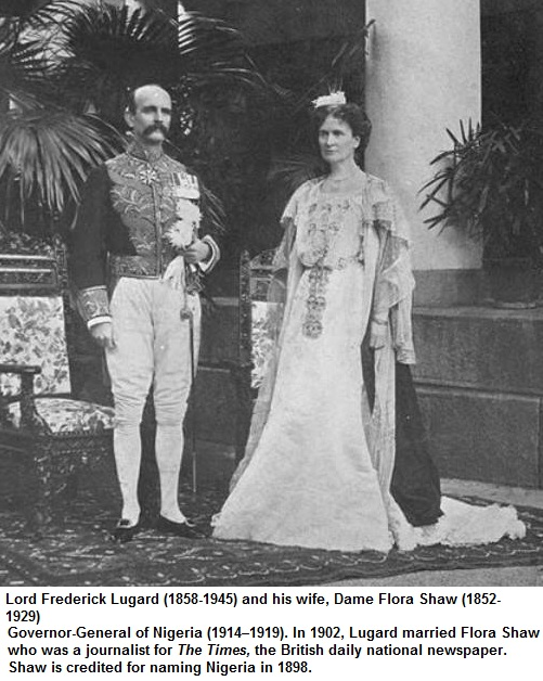 Lord Frederick Lugard and his wife Dame Flora Shaw