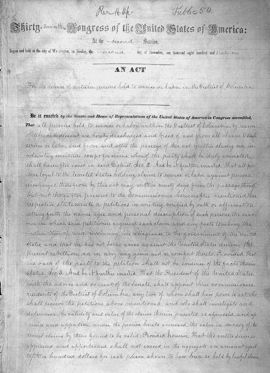 District of Columbia Emancipation Act