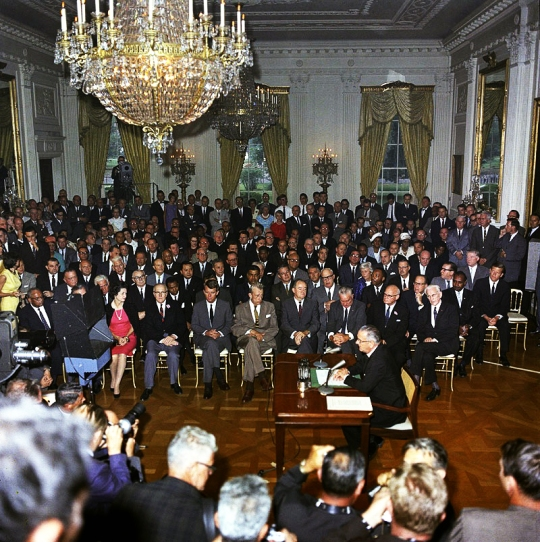 President Johnson Civil Rights Act of 1964