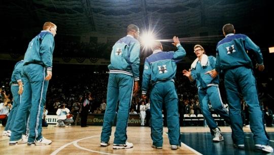 1988 original Charlotte Hornets logo Warm Ups