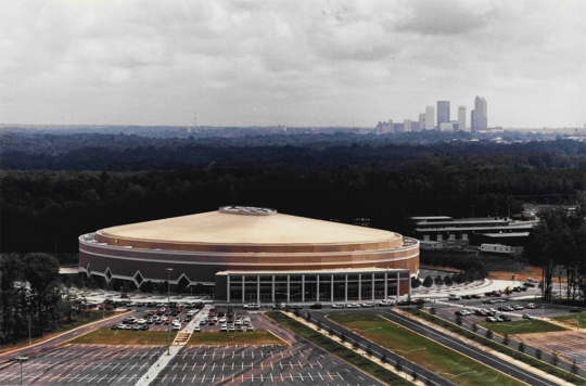 Charlotte Coliseum in the 1980s