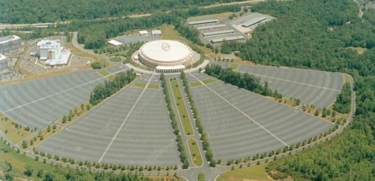 Charlotte Coliseum on Tyvola Road