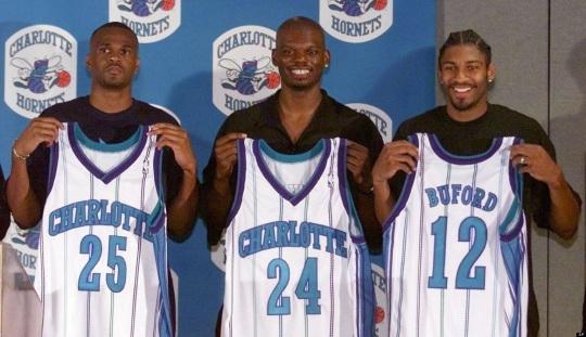 Charlotte Hornets Old Uniforms