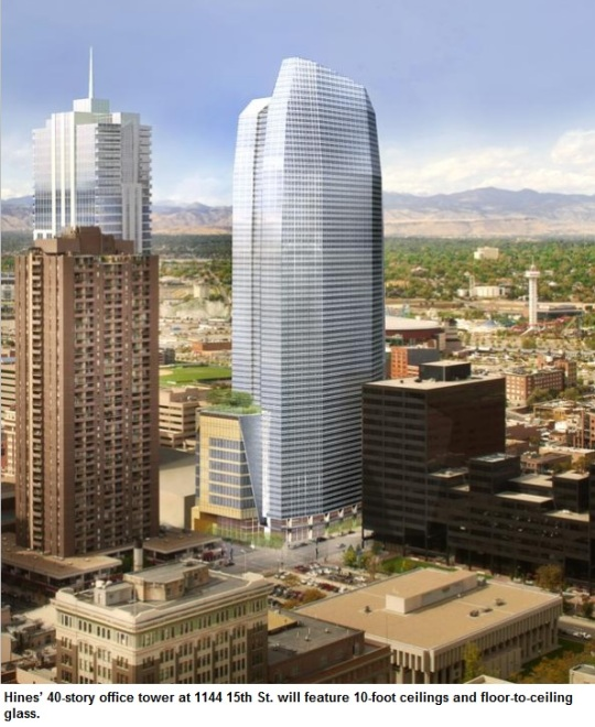 New Downtown Office Tower Will Be One Of Denver's Tallest