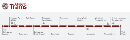 Edinburgh Tram map