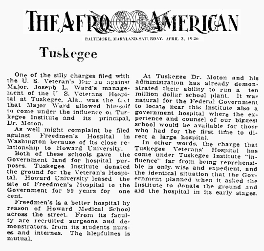 1926 Tuskegee Hospital