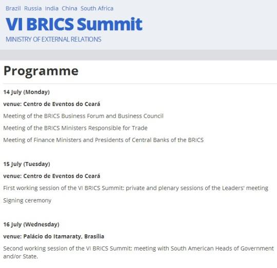 BRICS 2014 Summit