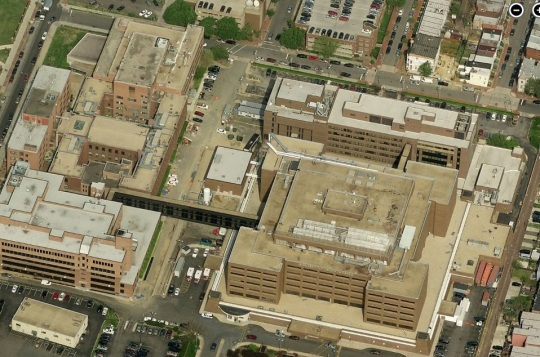 Howard University Hospital aerial
