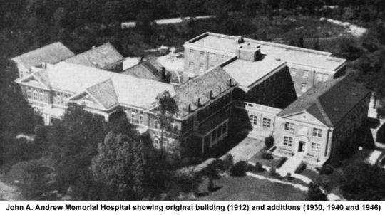 John A. Andrew Hospital aerial