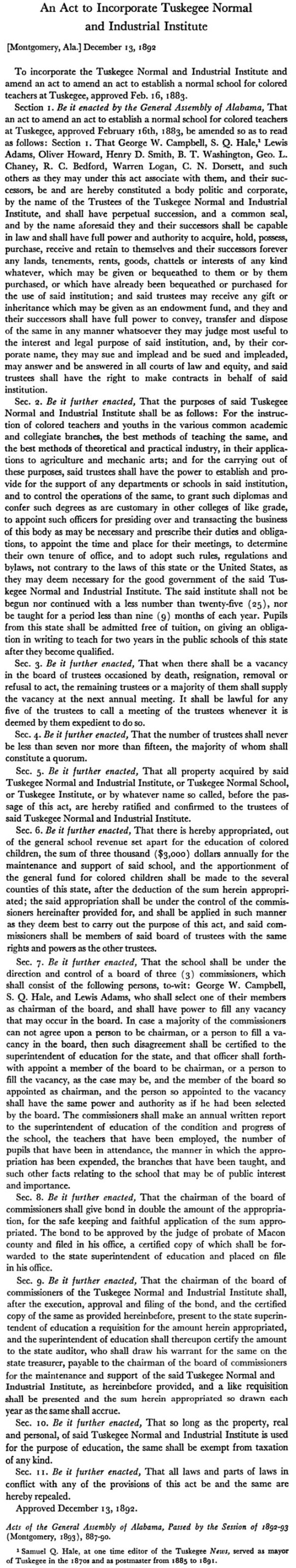 Tuskegee Charter