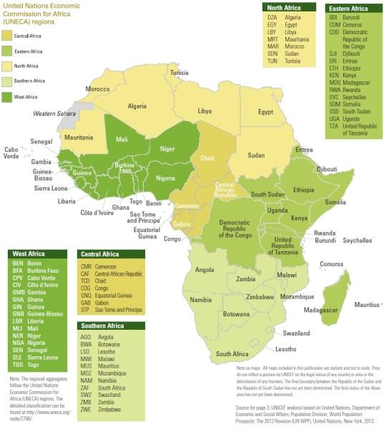 UNECA map