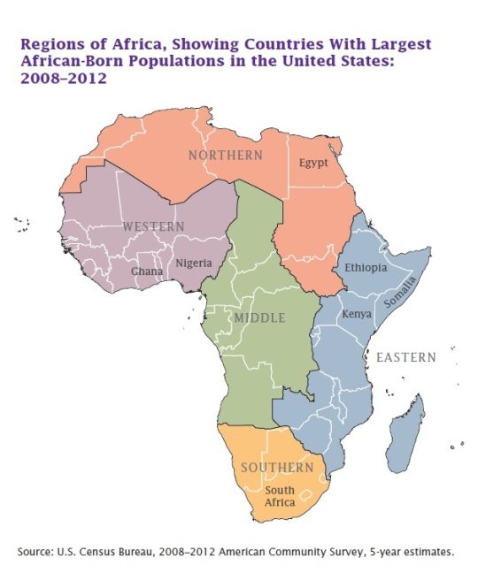 African Born Map