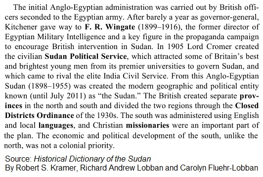 Sudan British Rule