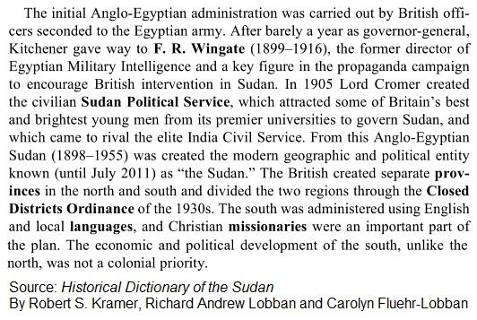 Sudan British Rule