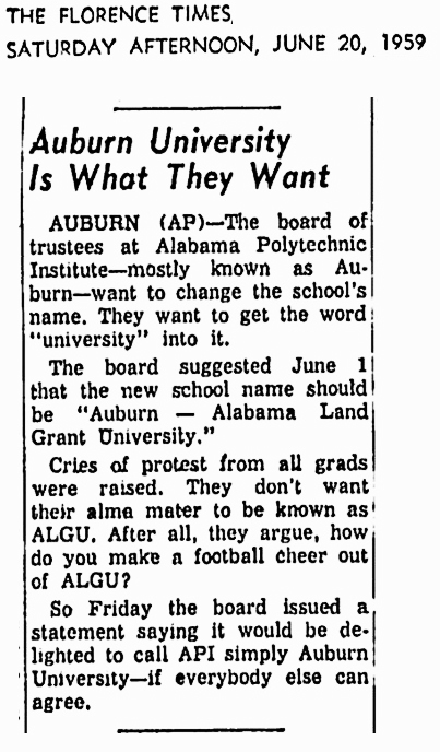 1959 June 20 Auburn University