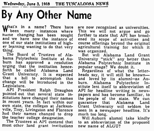 1959 June 3 Auburn University
