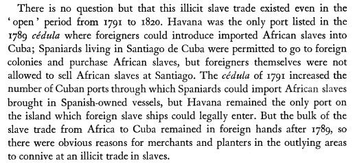 Slave Trade in Cuba 1790-1867