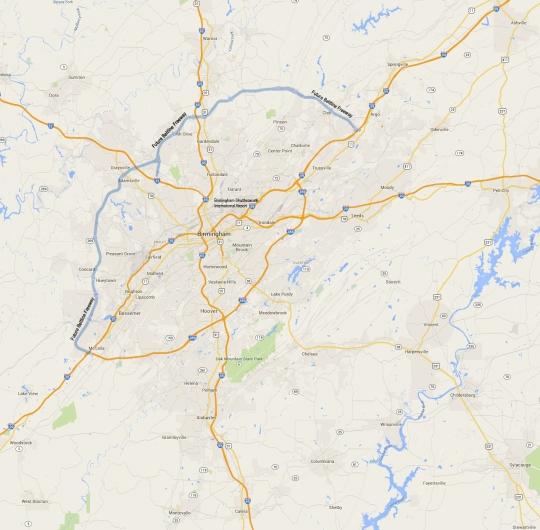 Birmingham Alabam Map