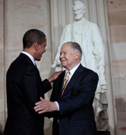 Ed Brooke and Barack Obama