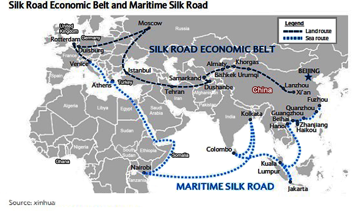 """China: The """"Belt and Road"""" initiative 