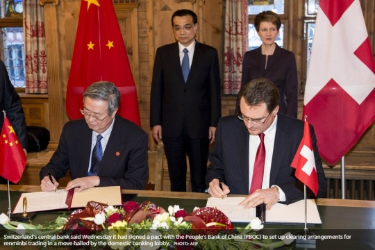 Switzerland - China