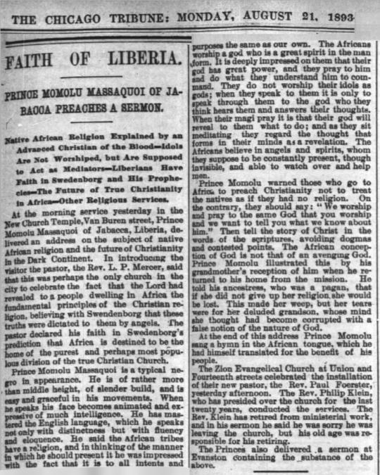 African Religion- Libria 1893