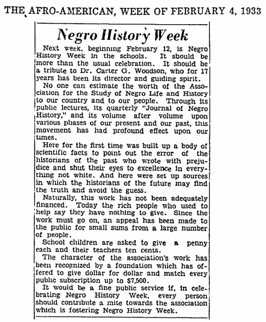 Black History 1933
