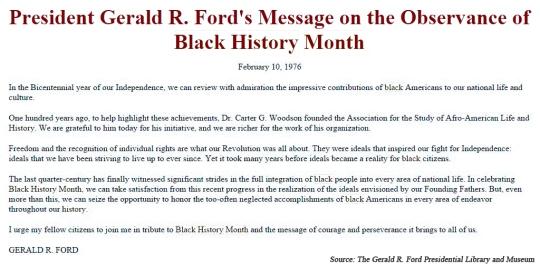 Black History Month 1976